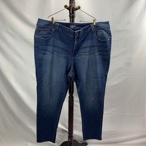Lane Bryant Genius Fit Blue Jean Jeggings Size 28